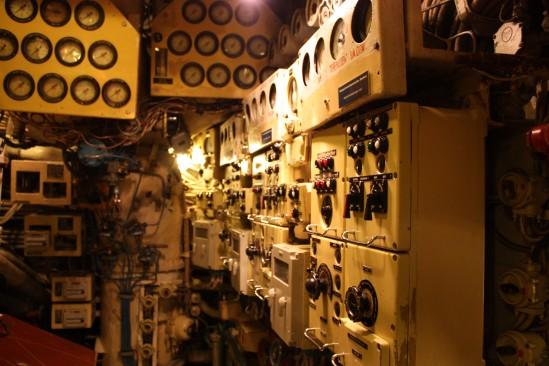Sala de control de la maquinaria diesel